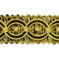 Collette Woven Braid Circle Trim Black/ Gold