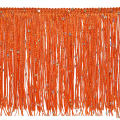 "6"" Starlight Hologram Sequin Chainette Fringe Trim Orange"