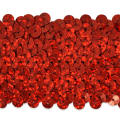 "5 Row 1 3/4"" Starlight Hologram Stretch Sequin Trim Red"