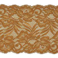 "Brea 5 1/2"" Stretch Raschel Lace Trim Cocoa"