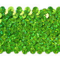 "5 Row 1 3/4"" Starlight Hologram Stretch Sequin Trim Lime"