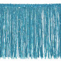 "6"" Starlight Hologram Sequin Chainette Fringe Trim Turquoise"