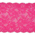 "Brea 5 1/2"" Stretch Raschel Lace Trim Hot Pink"