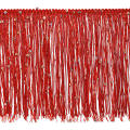 "6"" Starlight Hologram Sequin Chainette Fringe Trim Red"