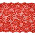 "Brea 5 1/2"" Stretch Raschel Lace Trim Red"