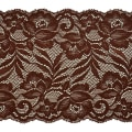"Brea 5 1/2"" Stretch Raschel Lace Trim Chocolate"