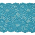 "Brea 5 1/2"" Stretch Raschel Lace Trim Blue"