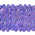 "5 Row 1 3/4"" Starlight Hologram Stretch Sequin Trim Lavender"