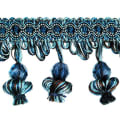 Stacia Onion Tassel Bead Fringe Denim (Precut, 20 Yards)