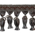 Tied Tassel Fringe Trim Pewter Multi (Precut, 10 Yards)