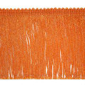 "4"" Metallic Chainette Fringe Trim Orange (Precut, 20 Yards)"