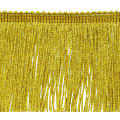 "4"" Metallic Chainette Fringe Trim Gold (Precut, 20 Yards)"