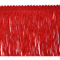"4"" Metallic Chainette Fringe Trim Red (Precut, 20 Yards)"