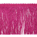"4"" Metallic Chainette Fringe Trim Fuchsia (Precut, 20 Yards)"