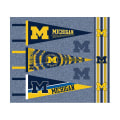NCAA University of Michigan Pennants (Set of 3 Unique Poly Felt Designs)