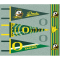 NCAA University of Oregon Pennants (Set of 3 Unique  Poly Felt Designs)