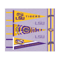 NCAA Louisiana State Pennants (Set of 3 Unique  Poly Felt Designs)
