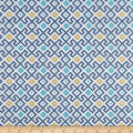 Lewis & Irene Lindos Greek Tiles Blue/Copper Metallic