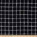 Art Gallery Grid Negative Rayon Black and White