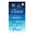 """Timeless Treasures Beach Is My Happy Place 24"""" Panel Turquoise"""