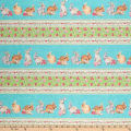 Northcott Bunny Love Bunny Stripe Turquoise/Multi