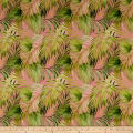 Northcott Island Sun Tropical Leaf Toss Pink/Multi