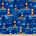 Northcott Atlantic Shore Light House Dark Blue