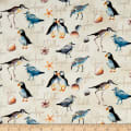 Northcott Atlantic Shore Shore Birds Cream