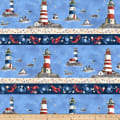 Northcott Atlantic Shore Border Stripe Multi
