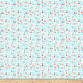 Northcott Sew Sweet Packed Floral White/ Turquoise