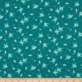 Northcott Sew Sweet Birds Dark Turquoise