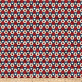 Northcott Stars & Stripes 7 Little Star Hexies Navy Multi