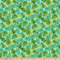 Northcott Tiger Tales Tropical Leaves Turquoise