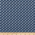 In The Beginning Fabrics Doodle Blossoms Loops Navy