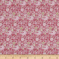 In The Beginning Fabrics Garden Delights Dotted Flowers Pink/Navy