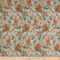 In The Beginning Fabrics Garden Delights Impressionist Coral/Green