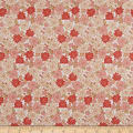 In The Beginning Fabrics Garden Delights Carnation Coral/White