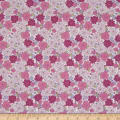 In The Beginning Fabrics Garden Delights Carnation Pink/White