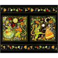"In The Beginning Fabrics Hey Diddle Diddle Dancing Digital Printed 36"" Panel Multi"