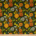 In The Beginning Fabrics Hey Diddle Diddle Large Allover Floral Digital Print Multi
