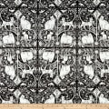 In The Beginning Fabrics Hey Diddle Diddle Cat Quartet Digital Print Black/Cream