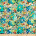 In The Beginning Fabrics Calypso Ocean Life Teal