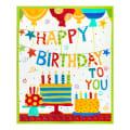 "In The Beginning Fabrics Happy Birthday Party Digital Printed 36"" Panel Multi"