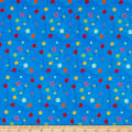 In The Beginning Fabrics Happy Birthday Large Spots Digital Print Blue