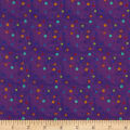 In The Beginning Fabrics Happy Birthday Small Dots Digital Print Purple