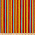 In The Beginning Fabrics Happy Birthday Ribbon Stripes Digital Print Red