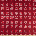 "Lewis & Irene Christmas Glow Letters 17.5"" Panel Glow In The Dark Red"