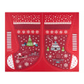 "Lewis & Irene Christmas Glow Stocking 35.5"" Panel Glow In The Dark Red"