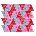 "Lewis & Irene Christmas Glow Bunting 35"" Panel Glow In The Dark Pink/Red"