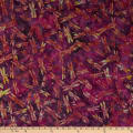Island Batik British Rose Dragonfly Iris